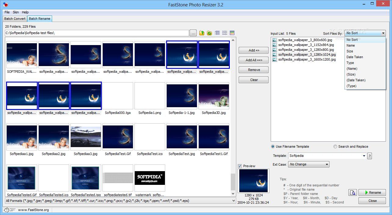 FastStone Photo Resizer: ridimesniona e rinomina grandi quantità d'immagini